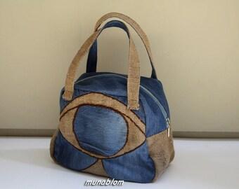 HORUS: denim and jute Bag