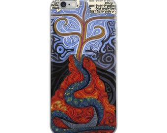 Snake erupting - Jungian art - iPhone Case