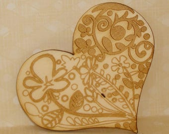 engraved heart 637 on wood perfect for Valentine's day