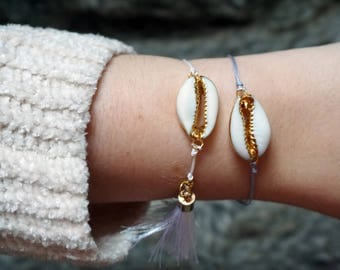 Gold Cowrie Shell Bracelet Different Styles