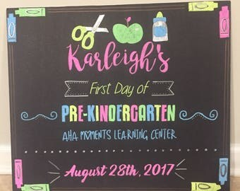 First Day Chalkboard Poster