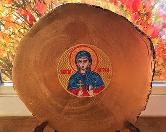 Sv Petka Icon, Orthodox Icon, Embroidered Icon, Slava
