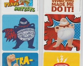 """25 Captain Underpants Stickers, 2.5"""" x 2.5"""""""