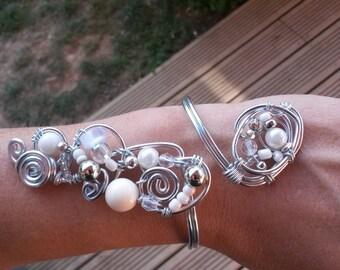 Original and unique wedding or ceremony bracelet.