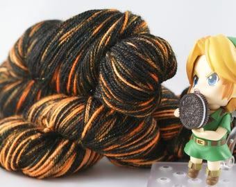 Halloween Oreos, fingering weight, Sock yarn, indie, hand dyed yarn, handdyed yarn, hand painted, superwash merino wool, variegated
