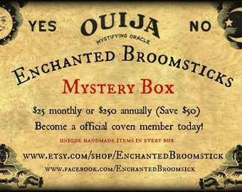 Monthly Subscription Enchanted Broomstick Coven Member