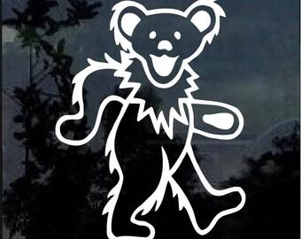 Grateful Dead Dancing Bear window decal sticker