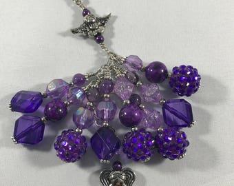 Purple Guardian Angel Purse Charm