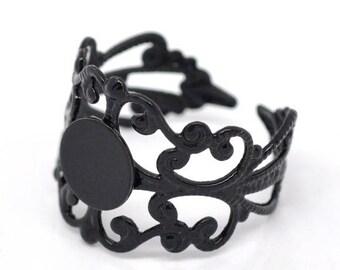 Support ring adjustable Ajoure black 3