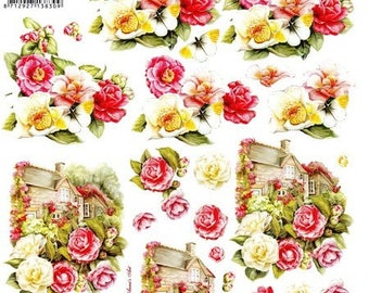 1 x sheet for decoupage 3D flowers (8215646)