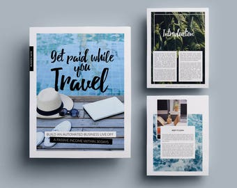 v3 ebook template // 16 pages fully editable customizable, Modern powerpoint