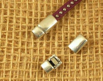 clasp magnetic 5mm hole zamak bracelet - very powerful-silver plated