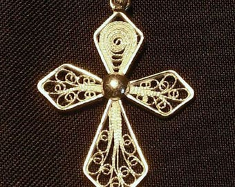 Gold Christian cross pendant