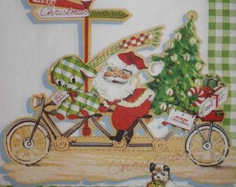 084 Santa Claus napkin