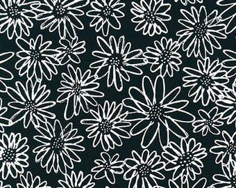 Blueberry Park Scruffy Daisy in Indigo Half Yard Cut - AWI-15747-62 - Karen Lewis - Robert Kaufman Fabrics