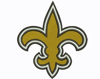 New Orleans Saints 5 Size Sport Team Embroidery Design instatnt download machine embroidery pattern