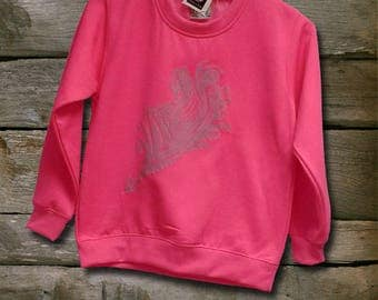 Sweatshirt pink neon girl with Thistle fairy