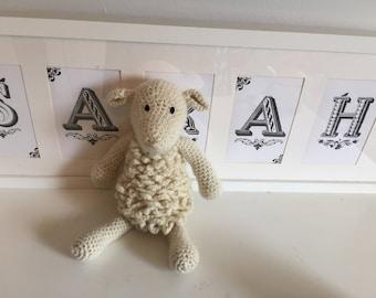 Hand crocheted sheep ooak
