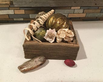 Rustic reclaimed  barnwood box|vanity tray|centerpiece