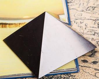 SALE! Shungite Pyramid 5.2 inch. (13 cm) Golden Section Unic Karelian EMF protection Reiki Practice Chakra Ballancing
