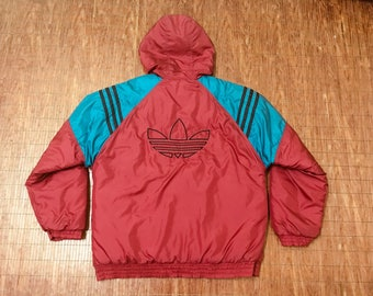 RARE!!! Vintage Adidas Embroidery Big Logo Winter Jacket Hip Hop