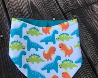Dinosaur bandana bib