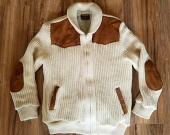 Vintage Virgin Wool Tundra Sweater Sherpa Lined Canadian