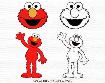 Elmo SVG, sesame street svg, cartoon sign, use with Cricut & Silhouette