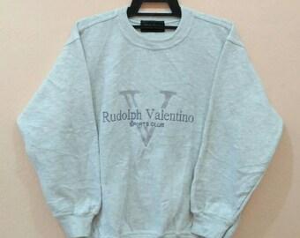 RUDOLPH VALENTINO Sweatshirt pullover spellout embroidery medium size