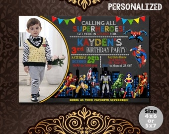 Superhero Invitation, Superhero Birthday, Superhero Birthday Invite, Superhero Party, Superhero Invite, Superhero Party Invite, Superhero
