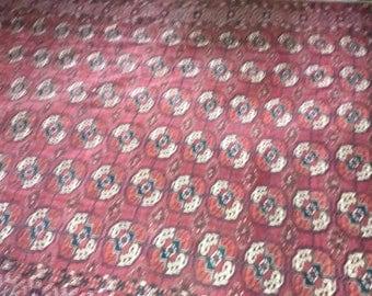 Buhara Teke Lina vintige rug carpet.Antique handmade carpet.