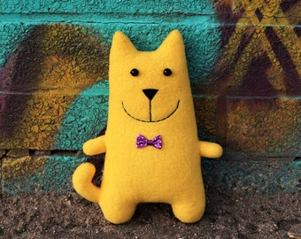 Yellow cat toy Gift gift for kids Handmade cat toy Stuffed animal Pet gift Cat
