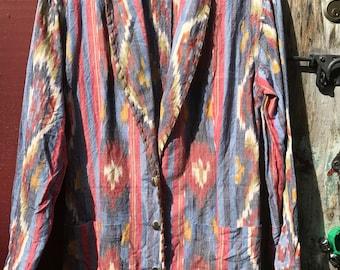Vintage Southwest Style Cotton Blazer