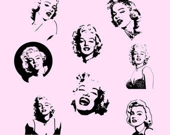 Marilyn Monroe.Svg.Dfx.Eps.Png.JPG.