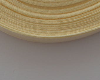 25 m width 10mm champagne colored satin ribbon
