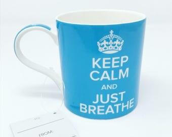 Ceramic Coffee Mug / Keep Calm Mug / Valentines Day Gift / Mug With Quotes / Quote Mug / Coffee Cup Gift / Bohemian Gift / Yoga Gift Mug