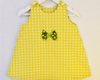 Mustard trapeze dress