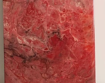 Resin painting,abstract, acrylic fluid paint. Original.