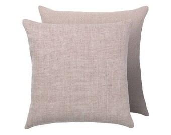 Blush luxury linen cushion
