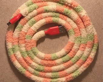 iPhone Charging Cable 6ft | Tropical Sherbert iPhone lightening Cable