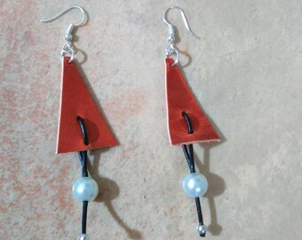 Italian Handmade Leather Earrings