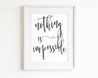 Quote print, motivational poster, graduation gift, high school graduation gift, college graduation gift, nordic wall decor, scandi decor