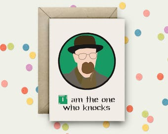 Breaking Bad Pop Art and Quote A6 Blank Greeting Card with Envelope