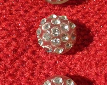 40's Rhinestone & Plastic Buttons