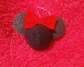 Glitter Minnie mouse bauble