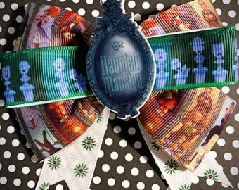 Inspired Disney Haunted Mansion Bow