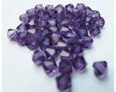 50 Perles toupies 4mm couleur violet STOP AFFAIRE !