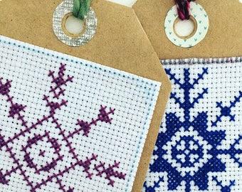 6 Snowflake Cross Stitch Patterns