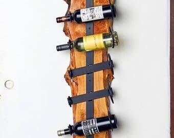 Sticks Design #299 Reclaimed Maple and Steel Wine Rack
