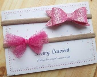 Set of pink bows